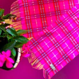 Burberry Hot Pink Plaid Cashmere Scarf &AJMorgan Sunglasses matching bundle